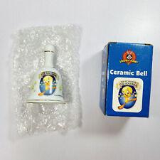Looney Tunes Ceramic Tweety Bird 2000 Bell For My Favorite Grandma Gold Trim NEW
