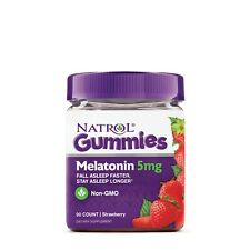 Natrol Gummies Melatonin 5mg Non-GMO Dietray Supplement 90 Count