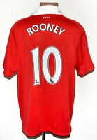 MANCHESTER UNITED 2010/2011 HOME FOOTBALL SHIRT JERSEY NIKE #10 ROONEY SIZE XL