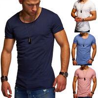JACK & JONES T-Shirt U-Neck V Herren Kurzarm Poloshirt Schwarz/Weiß/Khaki  NEU