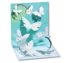 Floating Butterflies Pop-Up Greeting Card - Greeting Card by Up With Paper