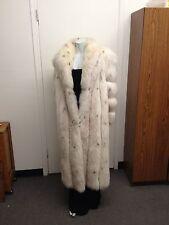 Beautiful Sexy Saga Ivory White Tipped Full Length 100% Authentic Fox Fur Coat
