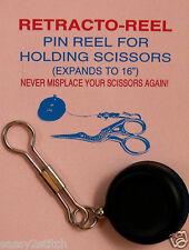Retracto Reel Clip for Scissors, Pens and Small Tools