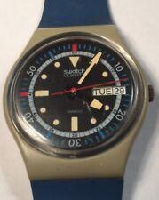 1985 Swatch Watch GM701 Calypso Diver Good Cond