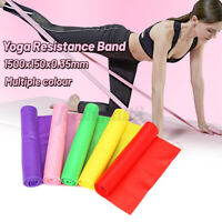 Elastic Stretch Resistance Bands Exercise Yoga Fitness Band Theraband 1.5m  A