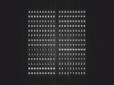 Planche autocollant sticker gommette numéro nombre lettre alphabet chiffre r14