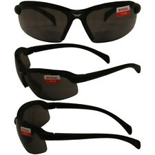 C2 Safety Shop Glasses with Black Frame and 1.0x Smoke Lenses