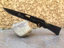 Couteau de poche en forme de crosse tout en métal noir