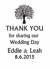 Sello de boda personalizado, gracias sello, sello de árbol personalizado de boda Hágalo usted mismo