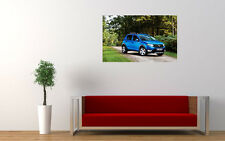 DACIA SANDERO STEPWAY NEW GIANT LARGE ART PRINT POSTER PICTURE WALL
