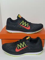 New Nike Zoom Winflo 5 Mens Size 12 AA7406-004 Black Crimson Volt Running Shoes
