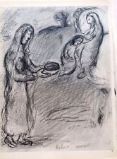 Marc Chagall offset lithograph Bible  paris maeght 1960 original 20 2 sided
