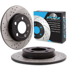 REAR GROOVED DRILLED 239mm BRAKE DISCS PAIR FOR AUDI TT MK1 1.8T QUATTRO VW BORA