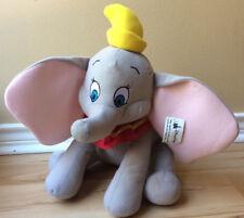 """Dumbo Plush Stuffed Toy Disney Parks Disneyland Gray Elephant Large Ears 15"""""""