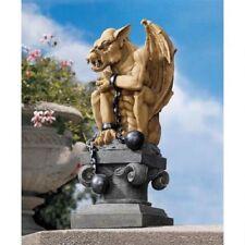 Gothic Gargoyle Statue All Chained Up Mystical Beast Art Sculpture