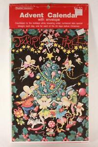 Vintage Advent Calendar with Envelope. Made in USA