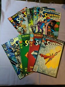 Superman Lot Reign Of The Supermen Die Cut Cover Blackout Funeral For A Friend