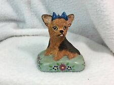 Basil Matthews (England) Whimsical Hand Painted Yorkshire Terrier Seated Dog
