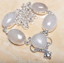 "Handmade Natural Rutilated Quartz Jasper 925 Sterling Silver Necklace 19"" N00717"