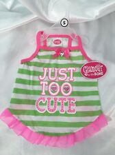 "Glamour To The Bone ""Just Too Cute"" Dog Pet  Dress Size Extra Small NWT"