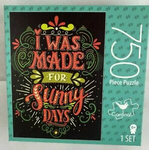 """""""I was Made for Sunny Days""""  750 Piece Cardinal Jigsaw Puzzle 24'x18"""" -Sealed"""