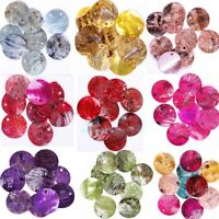 50 Pcs Mussel Shell Flat Round Coin Charm Beads 18MM CHOOSE COLOR