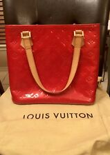 Pre-owned LOUIS VUITTON Vernis Houston Tote Bag Patent Leather, Red