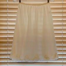Vintage 1960s Unique Penneys Adonna Creme Nylon Chiffon Half Slip. Size L