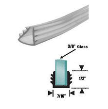 "Clear Shower Door Replacement Glazing Vinyl for 3/8"" Glass - 16 ft"
