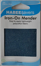 HABEEsavers Iron-on Patches Medium Denim 1 Piece Light Weight 24cm X 9cm