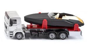 NEW Siku MAN Truck with Frauscher Motor Yacht Boat Die Cast Toy Car 2715 1:50