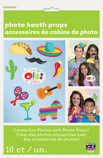 MEXICAN PARTY SUPPLIES SELFIE PROPS FIESTA PHOTO BOOTH SET OF 10 PROPS