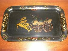 LOVELY SIGNED P. LEHR VINTAGE HAND PAINTED TOLEWARE TRAY