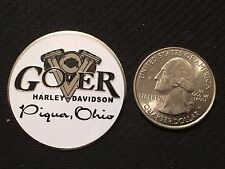 "Harley Davidson Dip Dot (FLAT 1-1/2 IN) ""Gover"" Piqua, Ohio CLOSED DEALER"