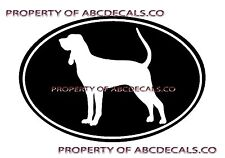 Vrs Oval Dog Black and Tan Coonhound Adoption Puppy Car Decal Vinyl Sticker