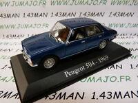 RBA8M voiture 1/43 RBA IXO : PEUGEOT 504 1969 bleu