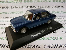 M voiture 1/43 RBA IXO : PEUGEOT 504 1969 bleu