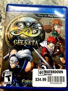 Ys: Memories Of Celceta (PS Vita  2013) - Free CDN Shipping...