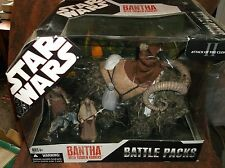 Hasbro Star Wars Battle Pack Bantha W Tusken Raiders New!!!!
