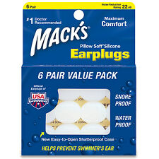 Macks Pillow Soft Sleeping Earplugs Silicone Ear Plugs Mack's Earplugs Sleep