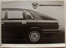 LANCIA GAMMA LIMOUSINE LF Car Sales Brochure c1979 GERMAN TEXT