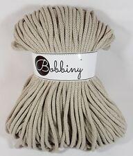 Bobbiny `Kordel/Seil/Rope Beige Ton 100m` Neu Stricken,Häkeln,Macrame,Paracord