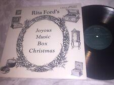 RITA FORD'S  JOYOUS MUSIC BOX CHRISTMAS - 1986 MUSICAL HERITAGE LP