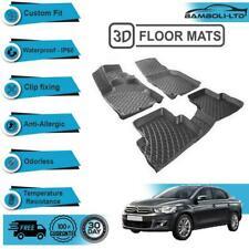 3D Molded Interior Car Floor Mat for Citroen C-Elysee 2013-Onwards(Black)