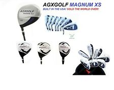MEN'S TALL LEFT HAND MAGNUM XS GOLF CLUB SET wDRIVER+3&5 WOODS+HY+ 5-SW IRONS+PT