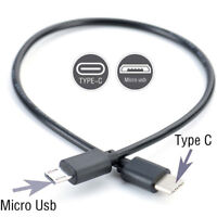 Type C (USB-C) to Micro USB Male Sync Charge OTG CHARGER Cable Cord Adapter.