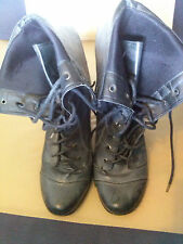 Standard Width (D) Lace Up Textured Boots for Women