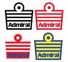 Admiral 70s Vinyl Football Shirt Soccer Numbers Heat Print Football Vintage Logo
