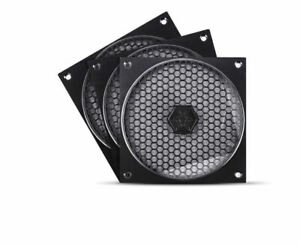 Silverstone SST-FF121B-3PK (Black - 3 Pack) 120mm Fan Grill & Filter Kit
