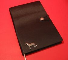 Greyhound A5 Black Note Book Journal Dog Vet Father Mother Christmas Gift